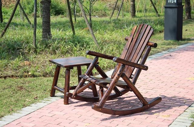 Adirondack Wood Rocking Chair  2