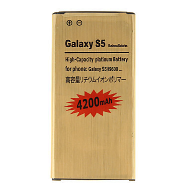 4200mAh Replacement Cellphone Battery Golden for Samsung Galaxy S5/I9600