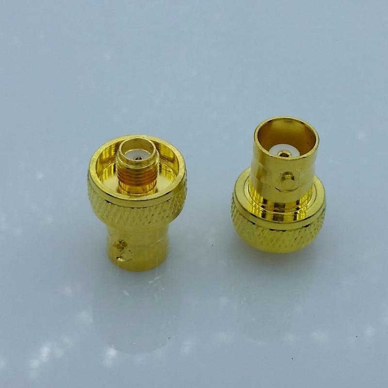 gold SMA to BNC,SMA-F to BNC-F antenna adapter for baofeng radio UV-5R UV-5RA UV-5RB UV-5RC UV-5RD 1 srh805s sma f baofeng 5r bf 888s
