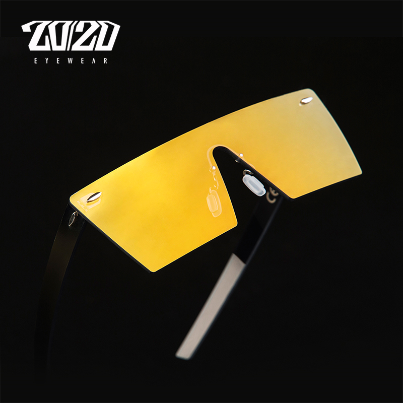 20/20 Brand Vintage Solbriller Menn Rimless Travel Flat Panel Lens Male Sun Glasses Women Oculos Gafas PC1604