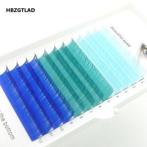 Image 3 - HBZGTLADใหม่C/D 0.07/0.1 มม.8 15 มม.ขนตาปลอมสีฟ้า + สีเขียว + สีม่วง + สีเทาขนตาแต่ละสีขนตาFauxขนตา