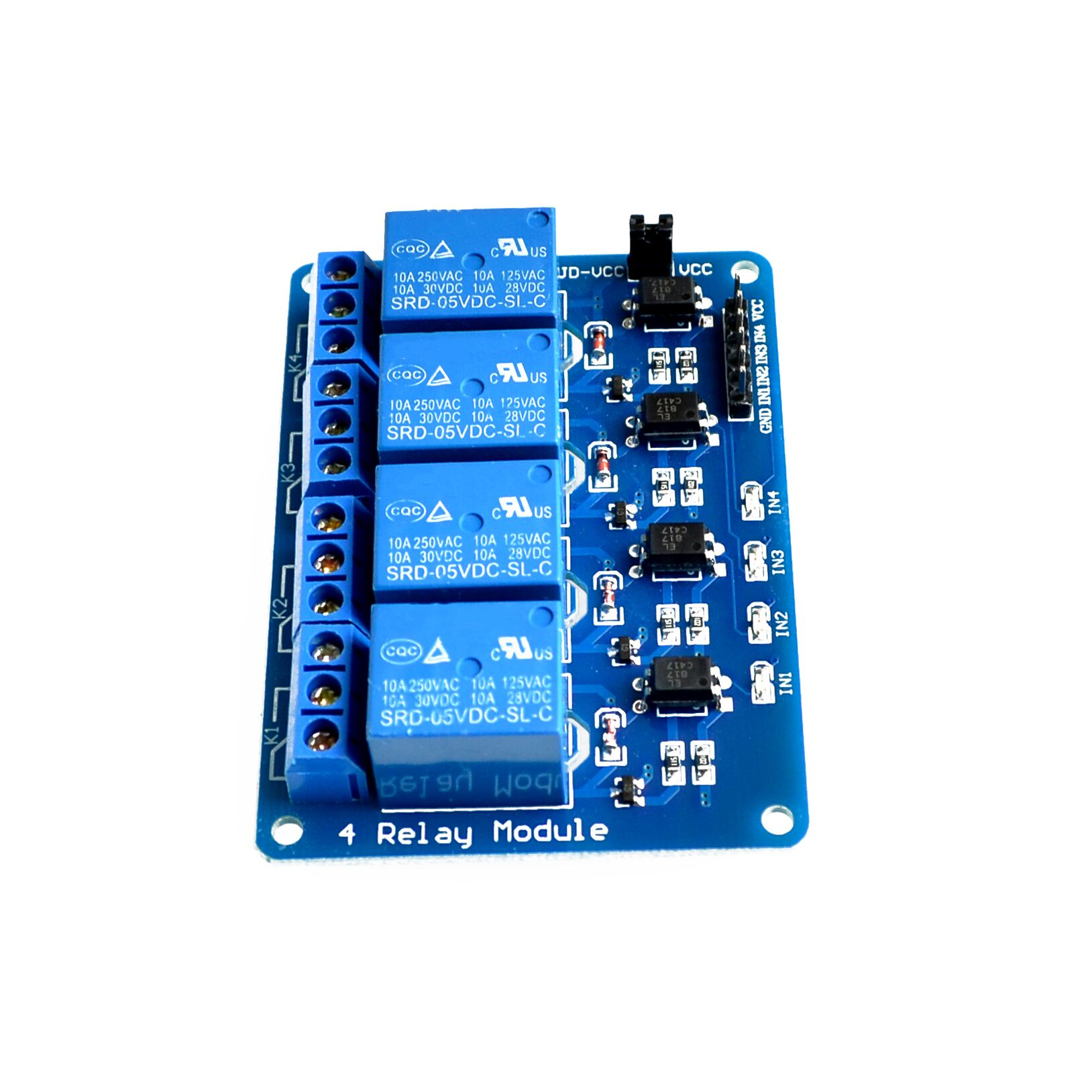 Brand New 5v 4 Channel Relay Module For Arduino Pic Arm