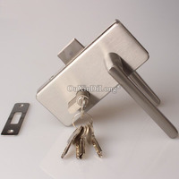 1PCS Stainless Steel door lock with handles office single door glass to wall lock for glass thickness 8 12mm JF1662