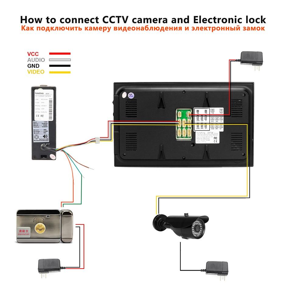 Ysecu проводной видеодомофон с CCTV Камера, 7 дюймовый монитор, дверной звонок, Камера, карта памяти на 32G, видео домофон для домашной безопастности Системы - 6