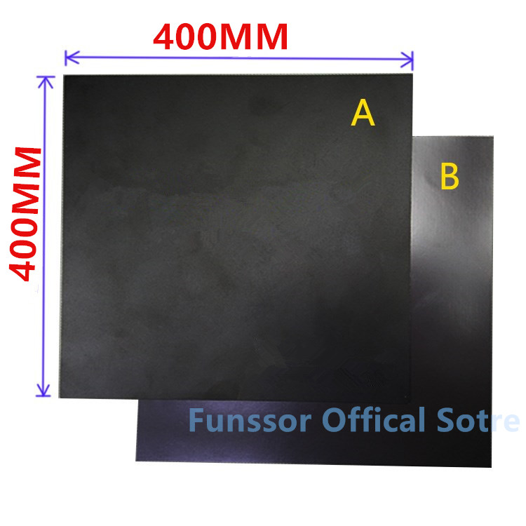 Funssor 400X400MM Magnetic Print Bed Tape Flex Build Tape Kit For DIY Creality 3D Printer