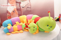 Super Wholesale 70cm Colorful Caterpillar Y2K Doll Plush Toy Large Caterpillar Pillow Baby Pillow Free Shipping