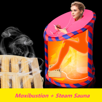 Inflatable Sauna SPA Moxibustion Multifunctional Foot Sauna Box STEAM BATH Lose Weight Detox Therapy Steam Shower Room Wet Sauna with a controller simple use detox foot spa bath