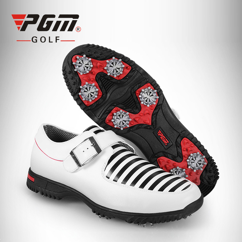 PGM Golf Shoes Men First Layer Sports Sneakers Genuine Leather Men's Golf Shoes Waterproof Footwear Shoes Verni A Ongle hot pgm golf bag golf clothes bag men