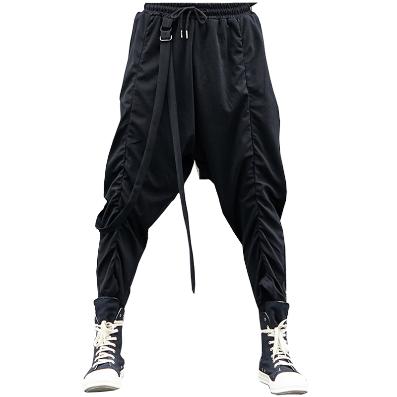 Pantaloni Uomo Uomini Nuovi Tuta Harem Il Nastro Casual Arrivi Lbz38 Da  Cotone Jogging Stile Hip Nero Hop Maschile Della ... 6ec861b14a3