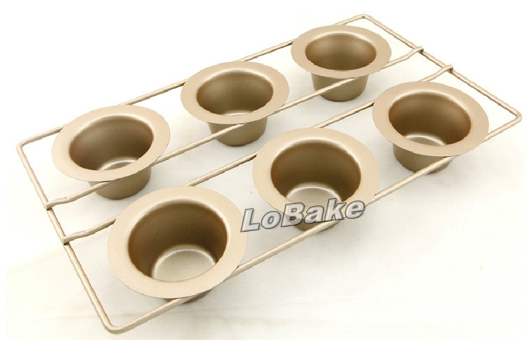 New Arrival Creative Design 6 Cavities Metal Cupcake Cake Mold Chocolate Mousse Bread Baking Mould For Kitchen Accessories