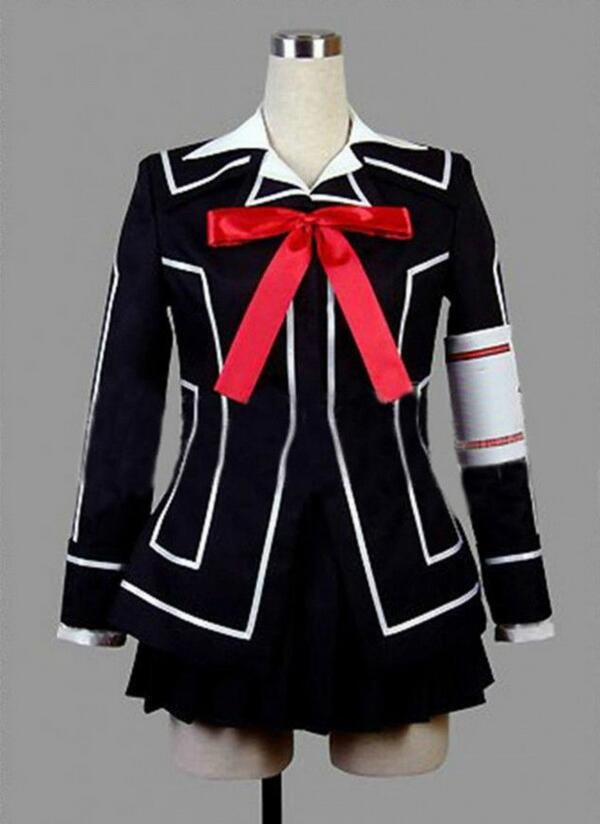 Vampire Knight Cosplay Costume Yuki Cross White or Black Womens Dress uniform