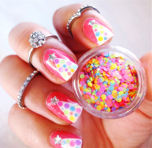 Mixed Luminous Nail Art Glitter Decoration