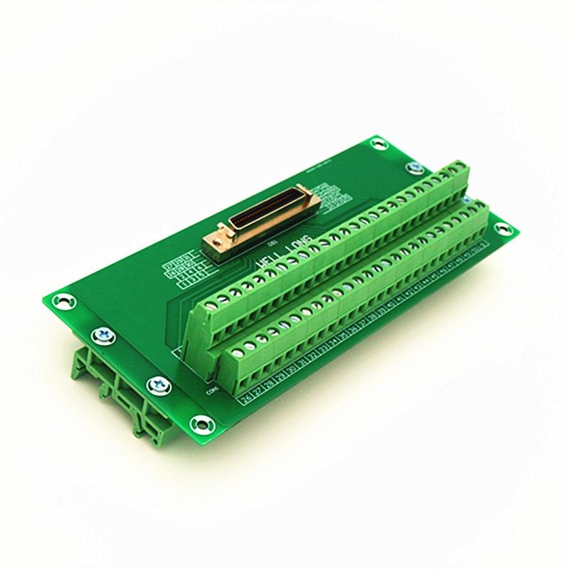 все цены на SCSI 50P MDR Female Breakout Board, SCSI Terminal Module. онлайн