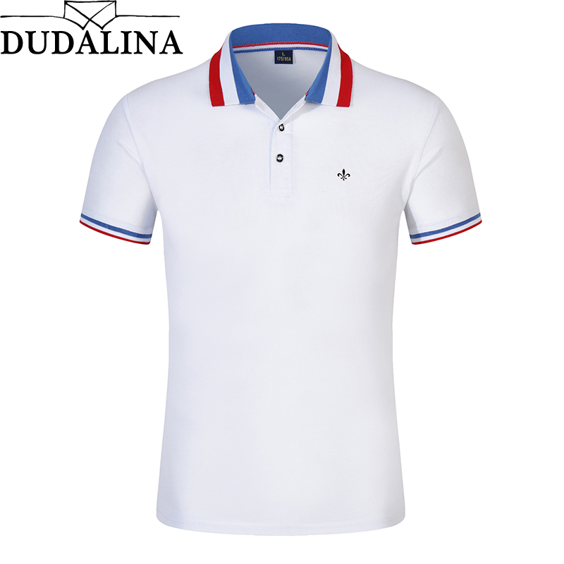 79eb7d140b Dudalina Polo Shirt New 2018 Fashion Brand Men Polo shirt Solid Color Slim  Fit Shirt Men Cotton polo Shirts Casual Colcci