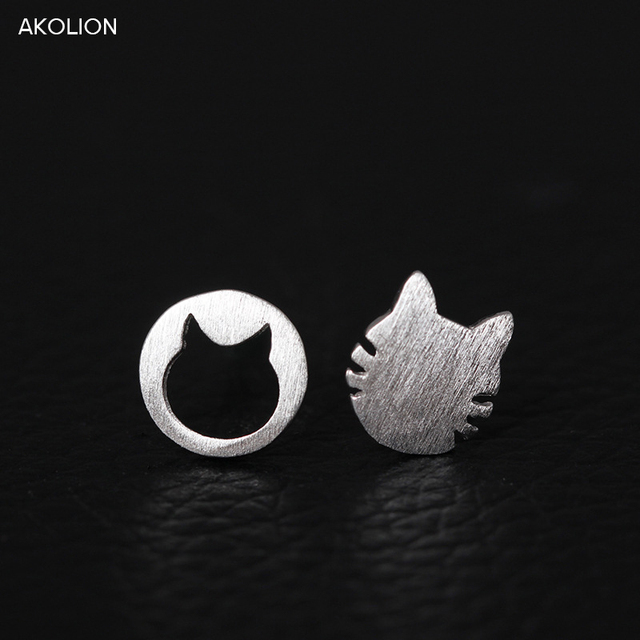 Silver Kitten Gift Earrings
