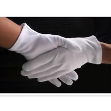 6 пар белых хлопчатобумажных перчаток для сервировки/женских