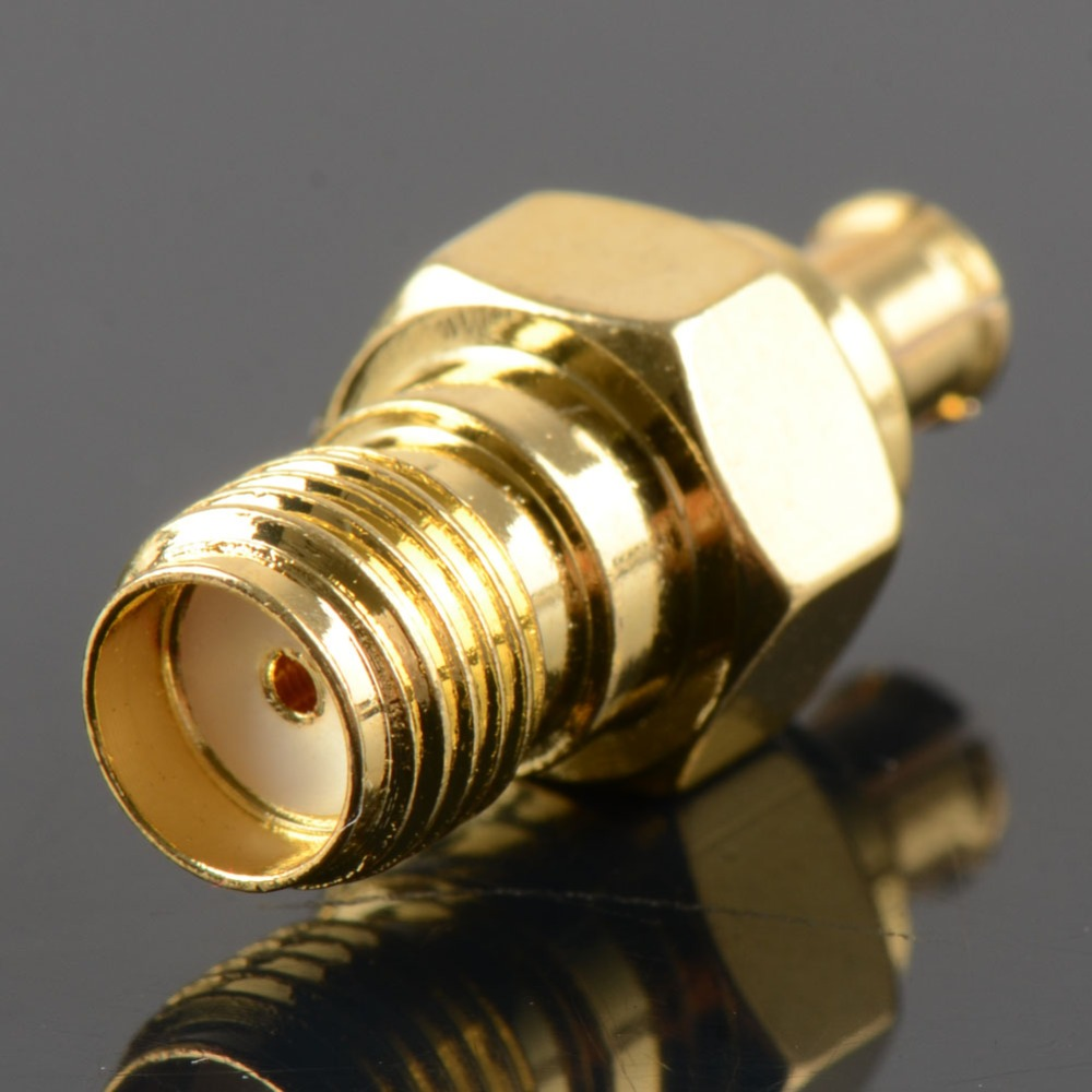 Adapter SMA Female Gold Plating Jack To MCX Male Gold Plating Plug RF Connector Straight 50 Ohm VC721 P20 1pc adapter n plug male nickel plating to sma female gold plating jack rf connector straight vc720 p0 5