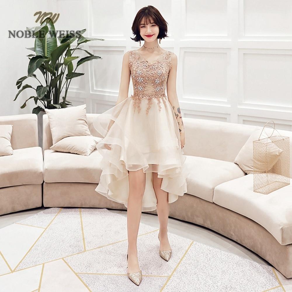 prom     dresses   v-neck appliques beading   prom   gown high/low vestidos de festa longo see through back party   dress