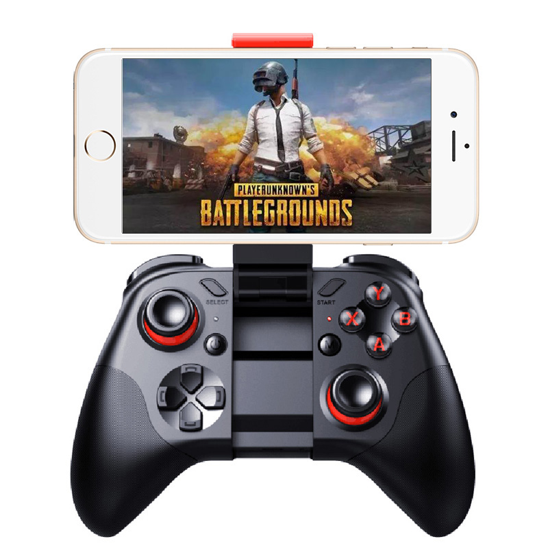 MOCUTE 053 Wireless Bluetooth Game Controller Portable HandheldGamepad Joystick For Android IOS With Smartphone Holder 053
