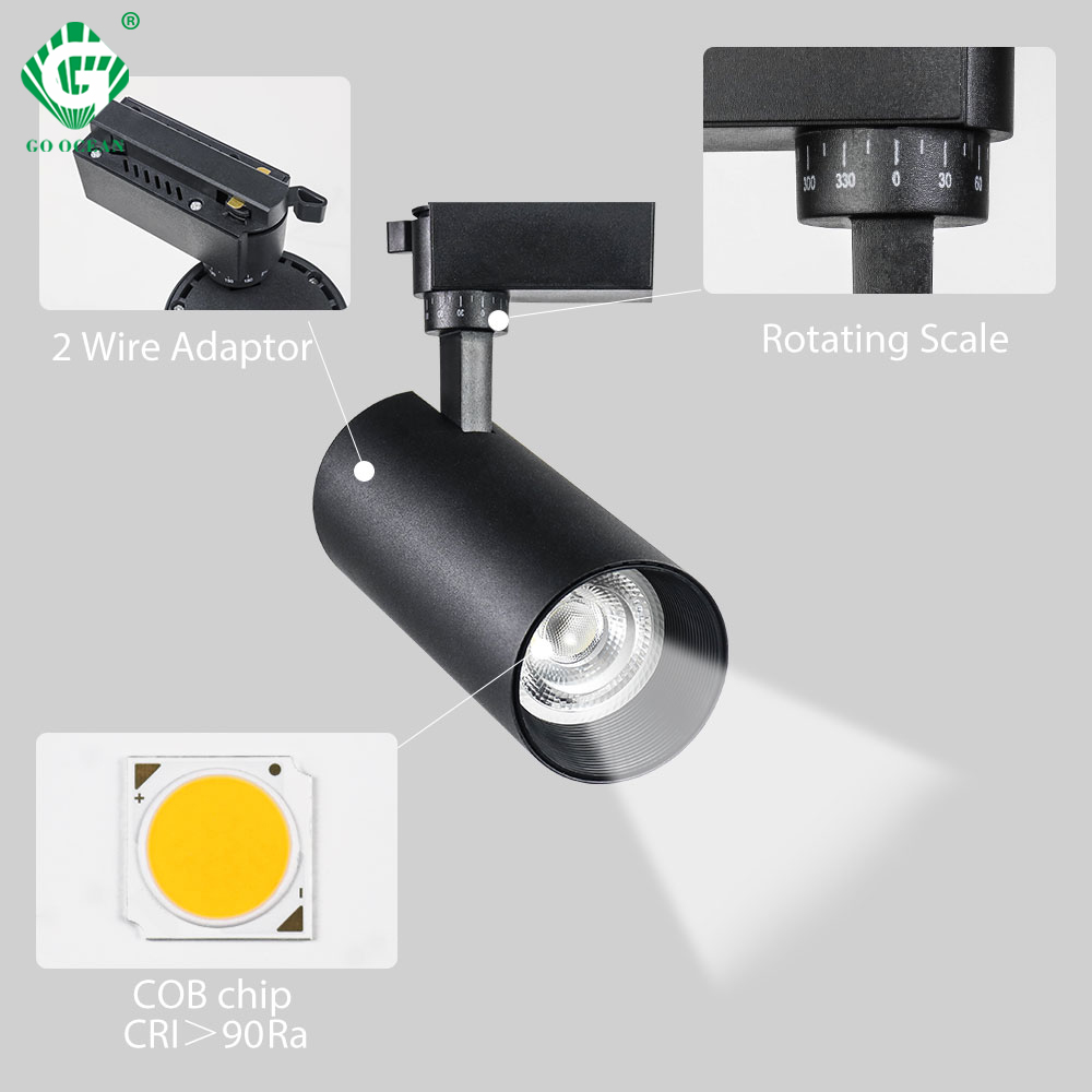 10W/20W/30W COB Track Light LED Rail Spot Lamp Home Exhibition Store Clothing Shop Indoor Lighting LED Ceiling Pendant Spotlight