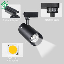 10W/20W/30W COB Track Light LED Rail Spot Lamp Home Exhibition Store Clothing Shop Indoor Lighting LED Ceiling Pendant Spotlight(China)