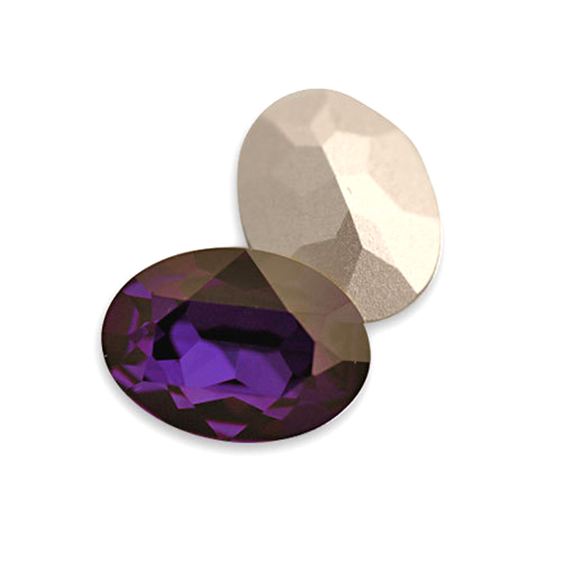 #4120 10*14mm 13*18mm 18*25mm  Oval Fancy Crystal Pointed Back Purple velvet 3d Nail Art crystal Jewelry decorations rhinestones