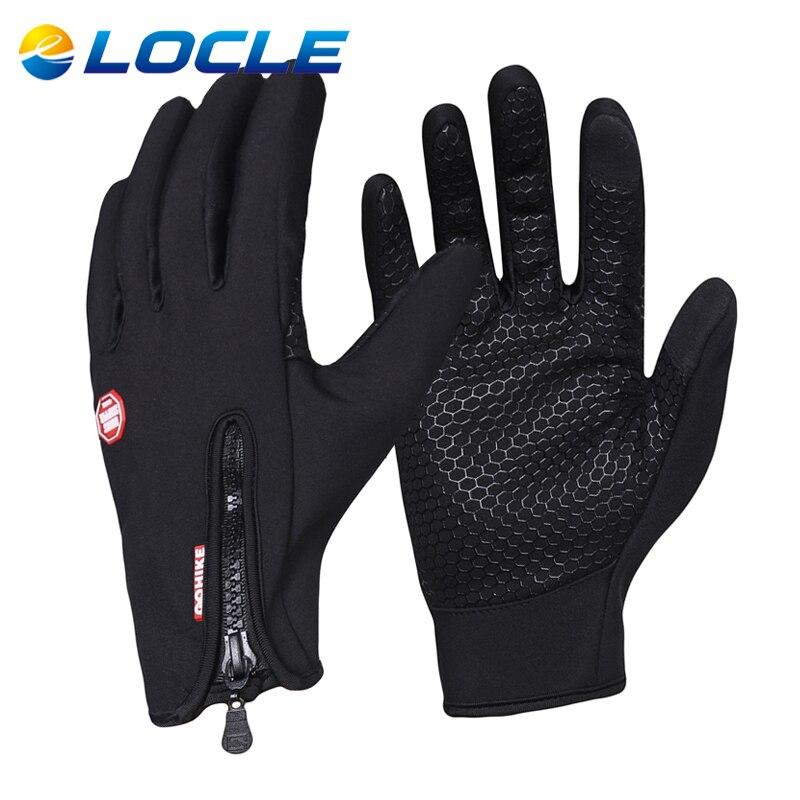 LOCLE Top Anti slip font b Cycling b font font b Gloves b font Touch Screen