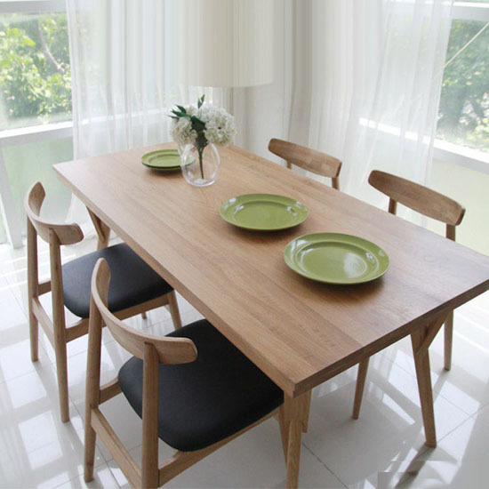 Anese Style Dining Table Scandinavian Modern Furniture Wooden Oak Wood Minimalist