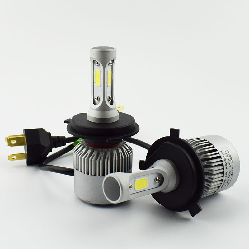 2 PCS LED Car Headlight Bulb Hi-Lo Beam COB Headlights 72W 8000LM 6500K Auto Headlamp 12V 24V fog light DRL H4 H7 H11 9005 9006 2pcs set 72w 7200lm h7 cob led car headlight headlamp auto lamps led kit 6000k headlight bulb light car headlight fog light