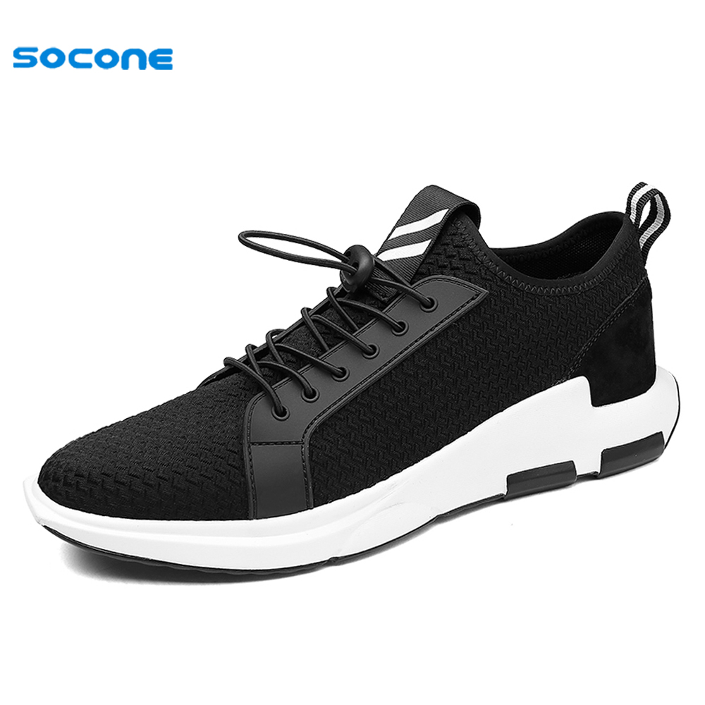 New Arrival SOCONE Leisure Men Skateboarding Shoes Autumn Spring Breathable Boy Sneakers Comfortable Cool Sport Outdoor FBL09 apple summer new arrival men s light mesh sports running shoes breathable fly knit leisure comfortable slip on sneakers ap9001
