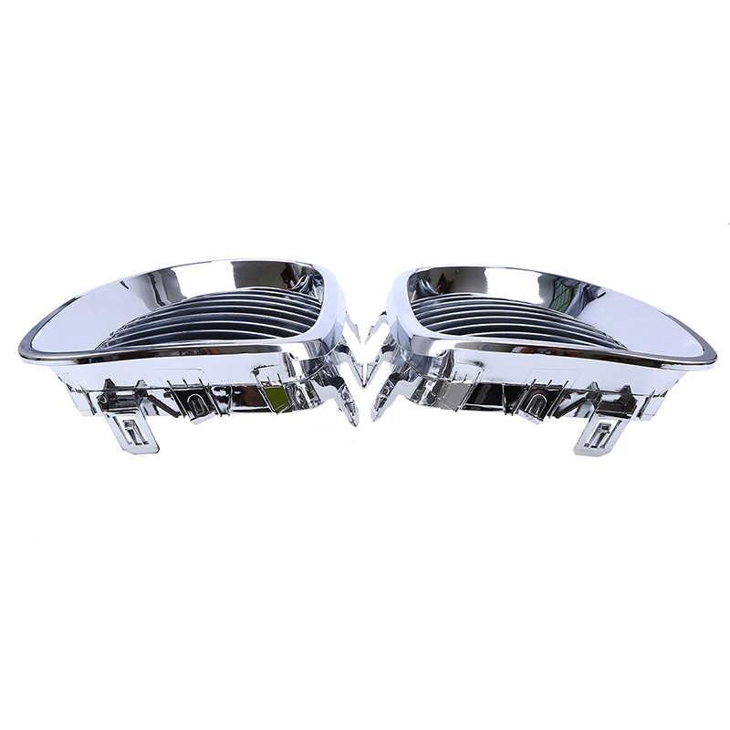 Possbay Mobil Panggangan untuk BMW 5-Series E60 Sedan/Tur E61 525d/525i/525xi 2003- 2010 Chrome Perak Mobil Depan Pusat Grille Grill