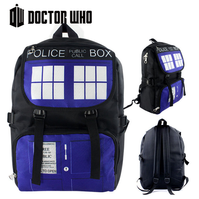 2016 Hot Sale Doctor Who Backpack Cartoon School Bag Student Bags Double Shoulder Anti Water Boys Girls Teenagers Schoolbags