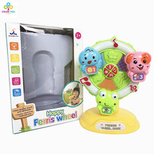 Happy Learning Bateria Musical Fun Toy Musical Ferris Wheel Cartoon Animal Toys For Kids