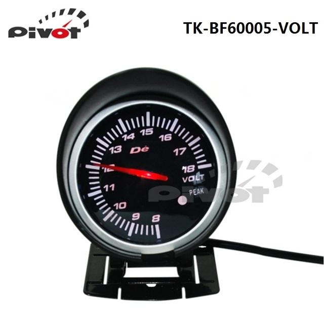 Asa HQ 60 mm DF BF auto Car Volt medidor de tensão medidor vermelho e branco 2 cores luz TK-BF60005-VOLT