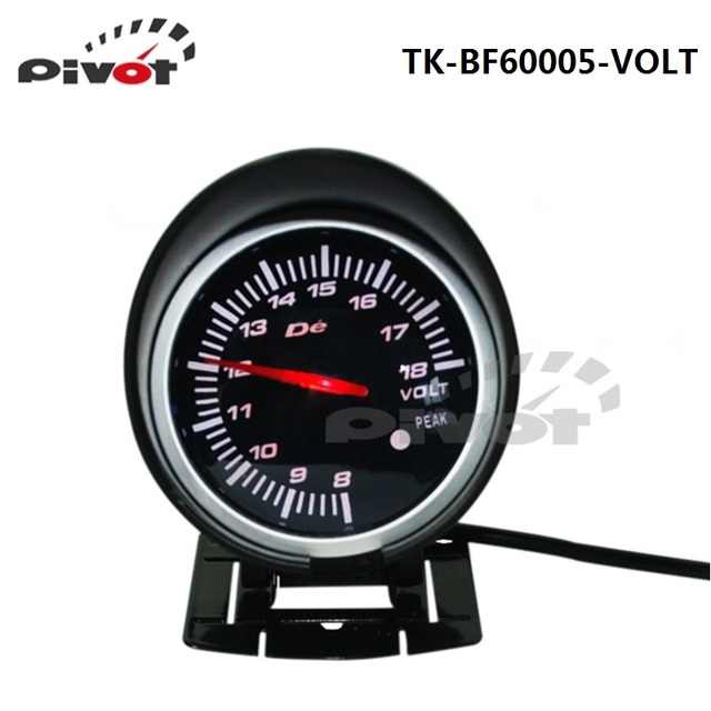 PIVOT -HQ 60mm DF BF auto Car Volt Gauge Car Voltage Meter Red & White 2 colors Light TK-BF60005-VOLT