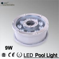9W 24v underwater Led Light 1000LM Waterproof IP68 fountain pool Lamp, Led underwater landscape light LPL B 9W 24V