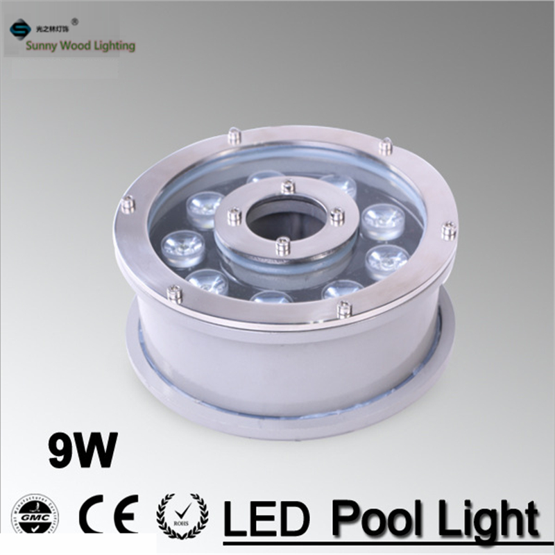 9W 24v underwater Led Light 1000LM Waterproof IP68 fountain pool Lamp, Led underwater landscape light LPL-B-9W-24V high power led pool light free shipping ip68 fountain light 6w 24v ac led underwater light lpl b 6w 24v
