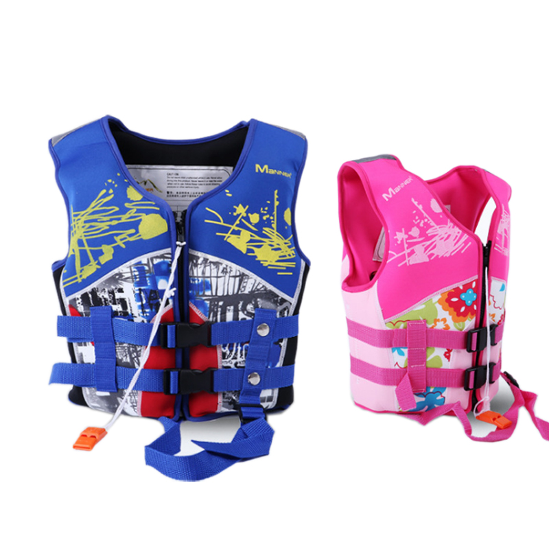 2019 Age 4-10 Kids Life Vest Water Sports Foam Life Jacket For Children Drifting Swimming Surfing Jacket With Survival Whistle