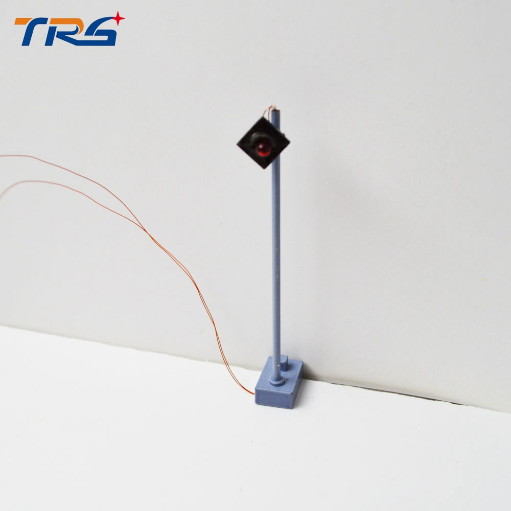 Metal Traffic Scale Model Signal Light 6V 7.5cm Height Mini Model Signal Light for Model Railroad Scenery Layout