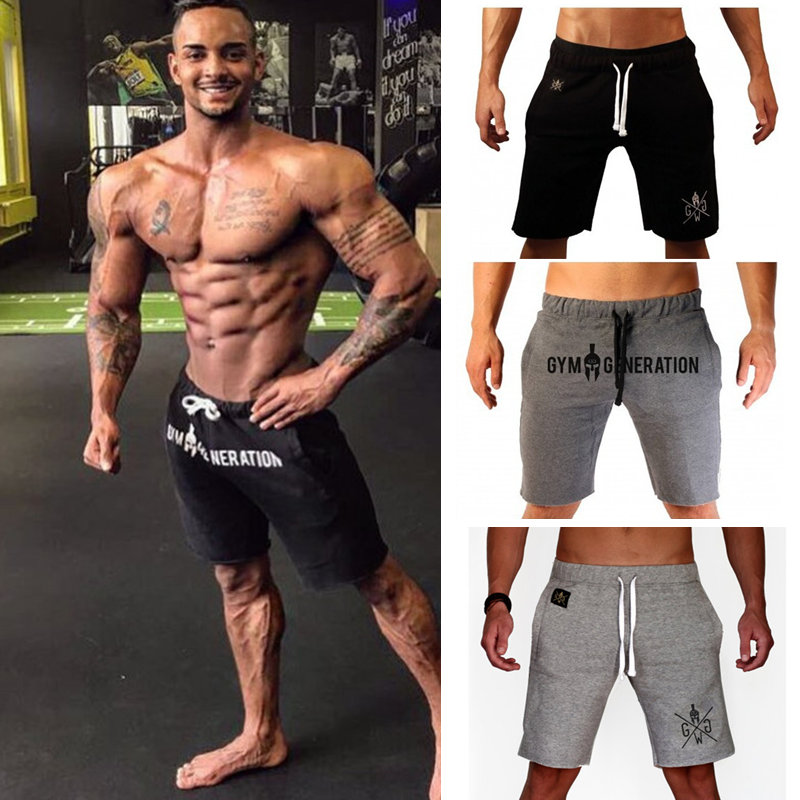 Mens Gyms Fitness Cotton Shorts Man Summer Casual Fashion Beach Short Pants Male Jogger Bodybuilding Workout Crossfit Sportswear