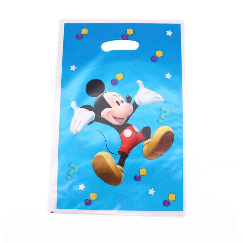 Mickey Mouse Dekorasi Natal untuk Rumah Kertas Piring Peralatan Makan Sekali Pakai Dekorasi Pesta Ulang Tahun Sekali Pakai Peralatan Makan Set