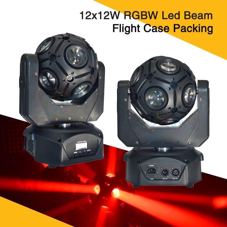 Nouvelle lumière (2 Pcs/Lot) boîtier de route 12x12 W Led Football faisceau de lumière mobile RGBW pour Dj Disco événement fête spectacle