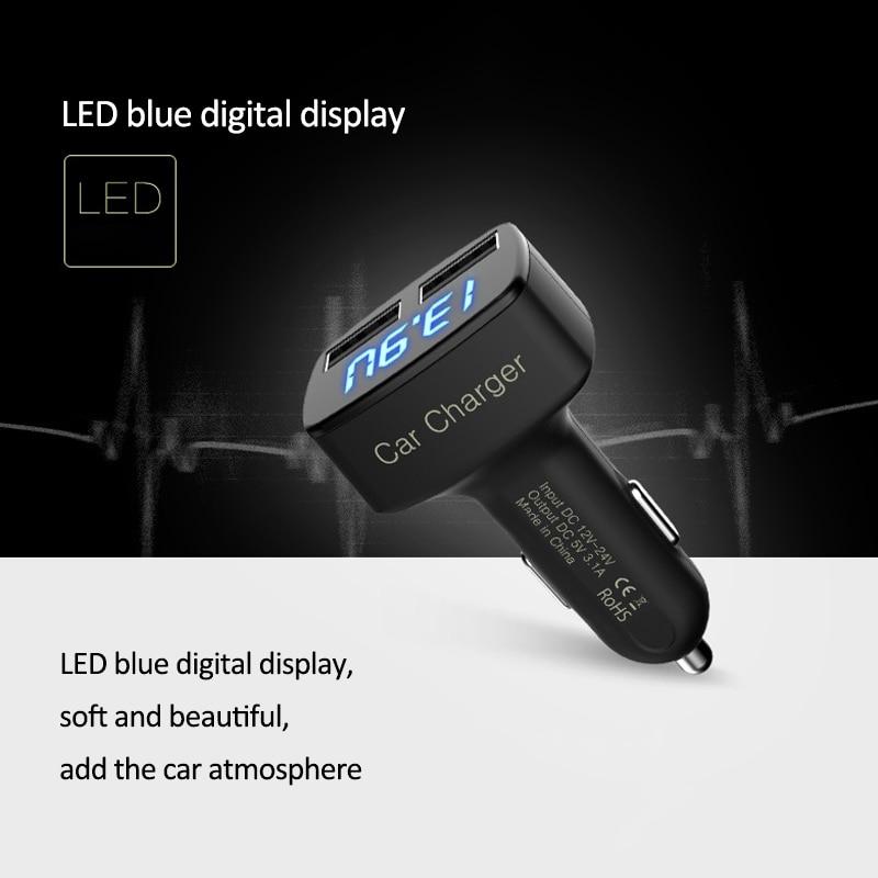 4 in 1 Caricatore per auto doppio USB Voltmetro Volt Misuratori di - Strumenti di misura - Fotografia 6