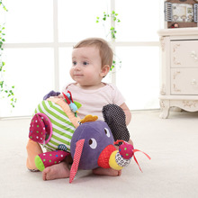 купить Multifunctional cartoon animal elephant infant comfort doll plush toy practice hearing grasp baby toy doll for 0-3 years old по цене 780.27 рублей