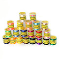Hot Sale 1.5mm 70M/roll nylon Cord Satin Braided String Mixed 21 Colors Jewelry Findings Beading Cord Rope Thread
