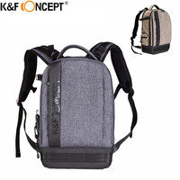 K F CONCEPT DSLR Camera Bag Waterproof High Density Nylon Backpack Laptop 14 For Canon Nikon