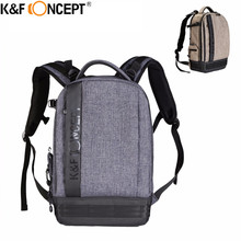 K&F CONCEPT Waterproof Nylon Camera Backpack (L) Big Size hold 1 Camera+6 Lens with Adjustable Straps For Canon Nikon Sony DSLR