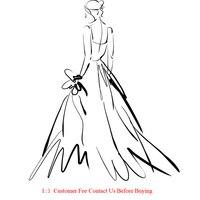 Custom made evening dress prom dress wedding dress