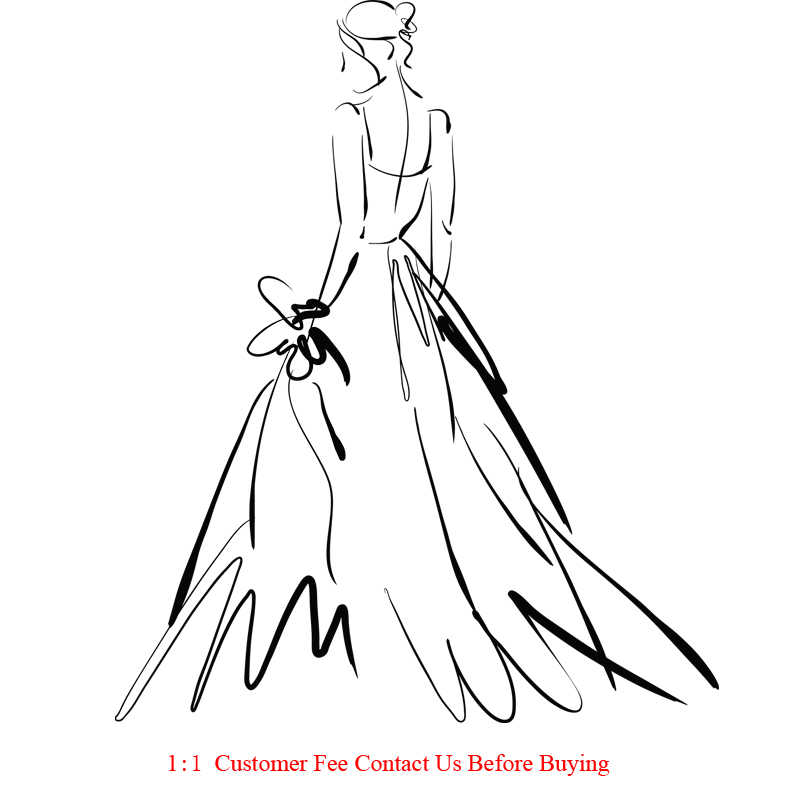 فستان حفلة موسيقية مخصص فستان زفاف DHL