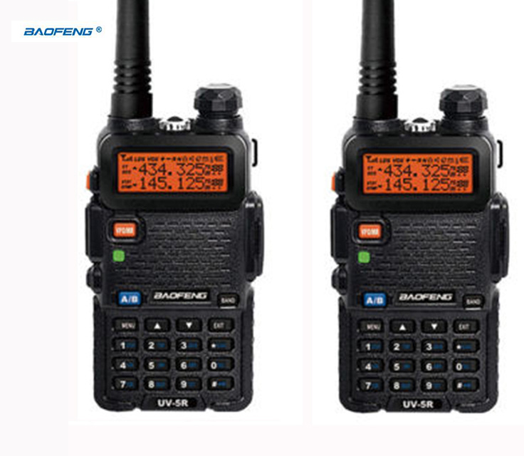 HOT 2 pcs ptt uv 5r baofeng headset ht radio hf vhf marine cb radio mobile